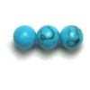 Semi-Precious 4mm Round Reconstructed Turquoise